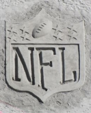 NFL Logo in the sand